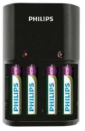 Philips Charger 4 Slots AA/AAA + AAA 800mAh x4