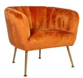 Atzveltnes krēsls Home4you Tucker Orange, 78x71x69 cm