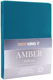 DecoKing Amber Bedsheet 80-90x200 Blue Sapphire