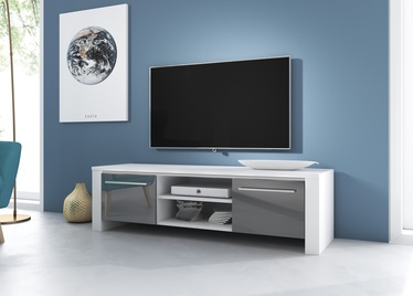 ТВ стол Vivaldi Meble Manhattan, белый/серый, 1400x422x400 мм