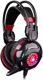Игровые наушники A4Tech Bloody G300 Blazing, черный/красный