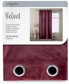 Nakts aizkari AmeliaHome Velvet, violeta, 1400x2450 mm