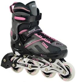Ролики Mico Plus Flos Girl 2in1 Black/Pink, 33-36