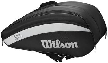 Теннисная сумка Wilson Roger Federer 12 Pack Bag Black, черный