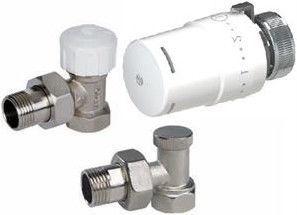 Термостатическая головка ARCO Teide Thermostat Radiator Valve Angle Set 1/2''