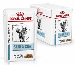 Mitrā kaķu barība Royal Canin Veterinary Skin & Coat, 0.085 kg