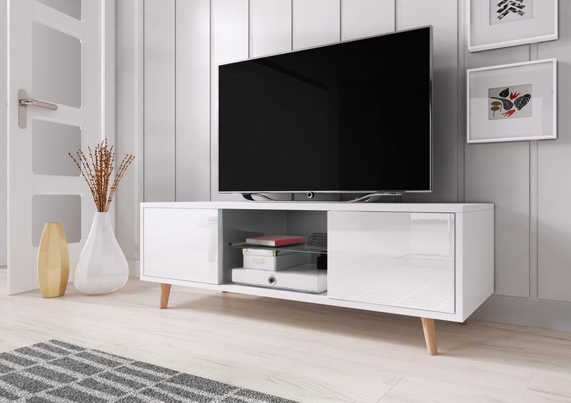 ТВ стол Vivaldi Meble Sweden 1, белый, 1400x420x450 мм