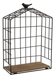 Home4you Wall Shelf Bird Cage Black Medium