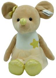Mīkstā rotaļlieta Axiom Lila Mouse 5105A, brūna/zelta, 25 cm