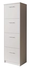 Шкаф для обуви Idzczak Meble 6 White, 500x290x1550 мм