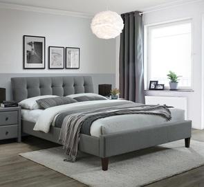Кровать Halmar Samara 2 160, серый, 215x163 см, с решеткой