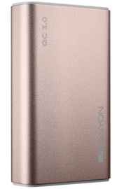 Ārējs akumulators Canyon CND-TPBQC10RG Rose Gold, 10000 mAh