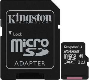 Kingston Canvas Select Plus 256GB microSDXC UHS-I Class 10 + SD Adapter