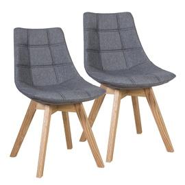Ēdamistabas krēsls Home4you Grey, 2 gab.