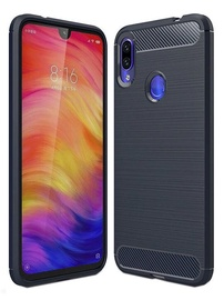 Hurtel Carbon Back Case For Xiaomi Redmi Note 7 Blue