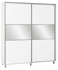 Skapis Bodzio SZP200W White, 200x60x240 cm, with mirror