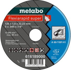 Metabo Flexiarapid Super 125x1.6x22.23mm Steel TF 41