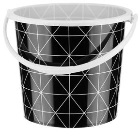 Ведро Galicja 24228, 5 л, белый/черный