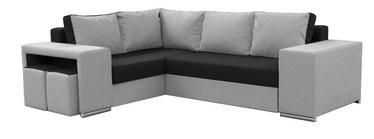 Stūra dīvāns Idzczak Meble Macho Black/Grey, kreisais, 275 x 215 x 85 cm