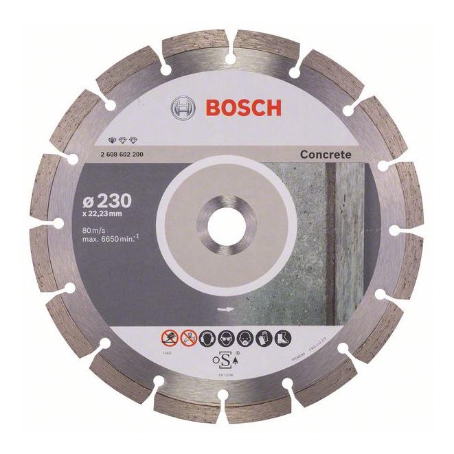 Griešanas asmens Bosch Concrete Diamond Cutting Disc BPE 230x22.23mm