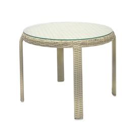 Садовый стол Home4you Wicker 13373, кремовый, 52 x 52 x 43 см