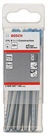 Bosch 2608587149 CYL-9 Multi Purpose Drill Bit Set 6mm 10pcs