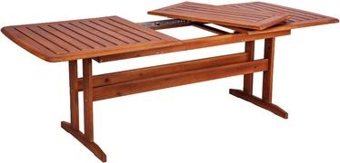 Dārza galds Folkland Timber Bavaria Brown Nut, 170 - 220 x 90 x 73 cm