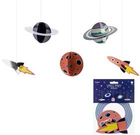 Dekorācija Party&Deco Hanging Decoration Space 5pcs