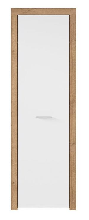 Skapis Black Red White Balder Riviera Oak/Glossy White, 62x51.5x192 cm