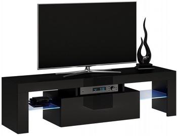 Top E Shop Deko 140 TV Stand Black Gloss