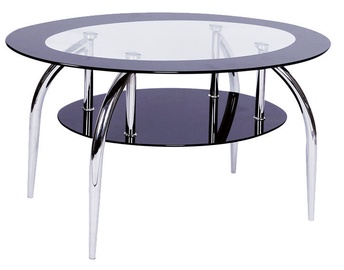 Kafijas galdiņš Signal Meble Loja Black, 1000x600x500 mm