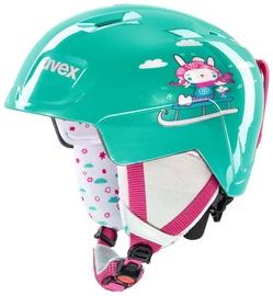 Uvex Manic Kids Ski Helmet Mint Snow Bunny 51-55