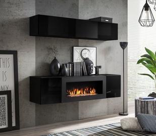 Dzīvojamās istabas mēbeļu komplekts ASM Fly N1 Black