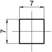 RUBINETA Cross 1/2 (7x7) RD Handle