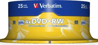 Verbatim 25x 4.7GB DVD+RW 4x 43489