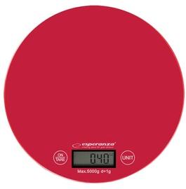 Электронные кухонные весы Esperanza Mango EKS003, красный