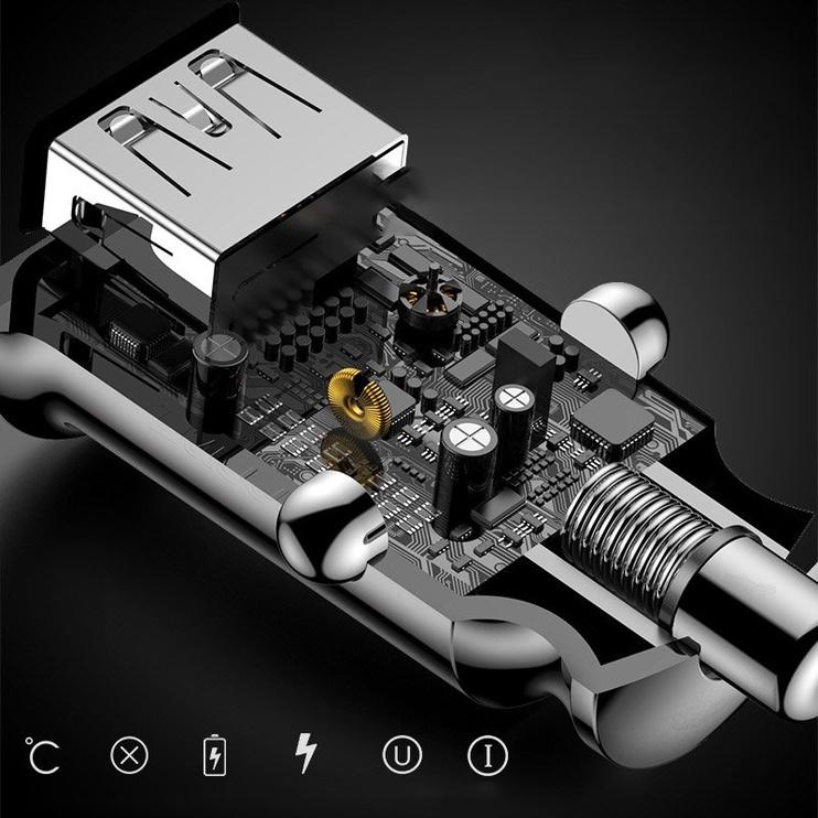 Auto charger 12-24v 2xUSB 3.1A, 16W
