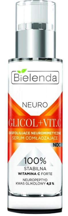 Sejas serums Bielenda Neuro Glycol + Vit.C Exfoliating Night Serum, 30 ml