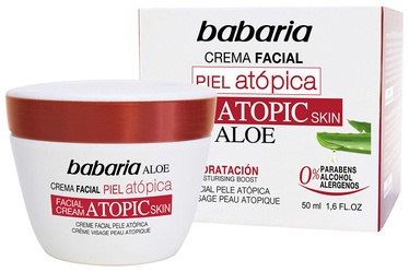 Sejas krēms Babaria Atopic Skin Facial Cream With Aloe Vera, 50 ml