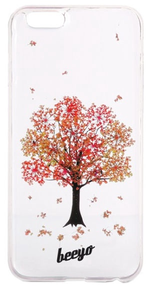 Beeyo Blossom Back Cover For LG K4 Red Tree Transparent