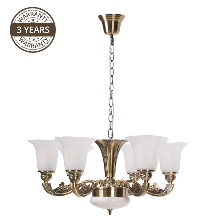 LAMPA GRIESTU A1673-6 6X60W 1X12W LED (DOMOLETTI)