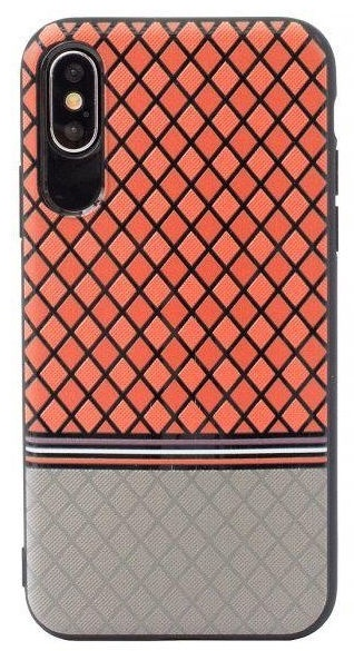 Mocco Trendy Grid And Stripes Pattern 2 Back Case For Samsung Galaxy S8 Plus Red