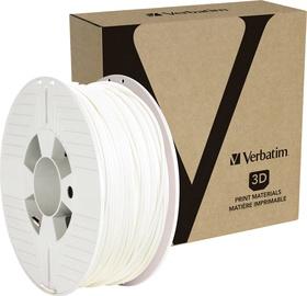 Palīgmateriāli 3D printeriem Verbatim PLA Filament RAL 9003, 126 m, balta