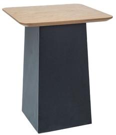 Kafijas galdiņš Signal Meble Tom Oak/Black, 400x400x500 mm