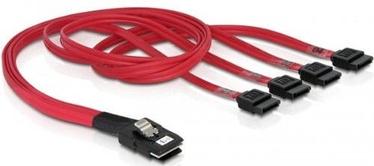 Delock Cable mini SAS SFF-8087 to SATA x4 7pin 0.5m