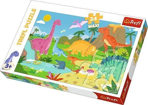 Пазл Trefl Maxi Into The Dinosaur World, 24 шт.