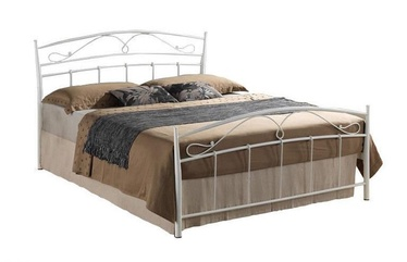 Кровать Signal Meble Siena White, 208x146 см, с решеткой