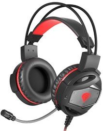 Игровые наушники Genesis Natec Neon 350, черный/красный