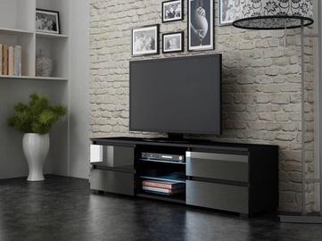 ТВ стол Pro Meble Milano 150 With Light Black/Grey, 1500x350x420 мм