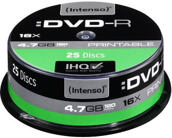 Intenso DVD-R Printable 16x 4.7GB 25pcs. Cake Box 4801654